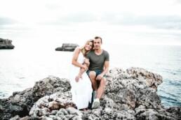 Nadja Morales fotografiert ein Paar an Mallorcas Küste.